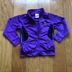 Adidas Girls Lightweight Purple Zip Jacket